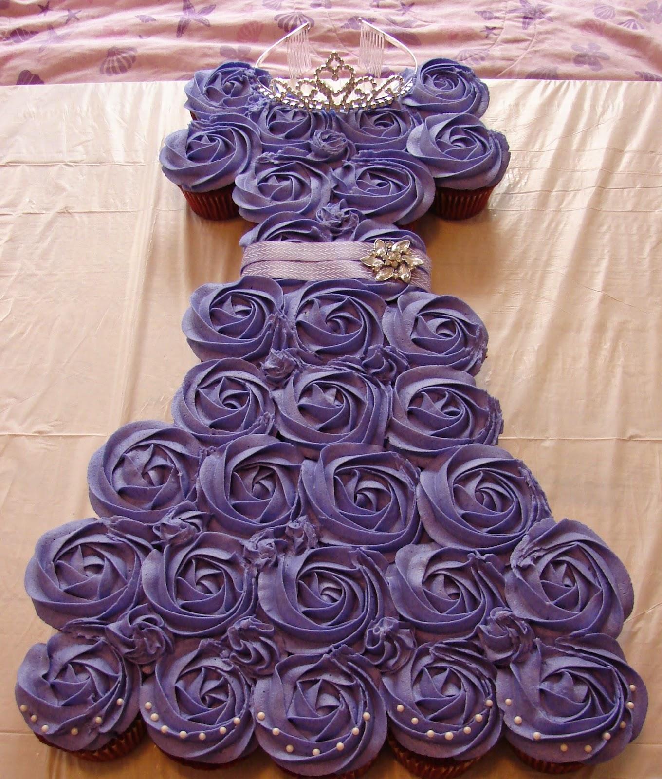 How To Make Princess Dress Cupcake Cake