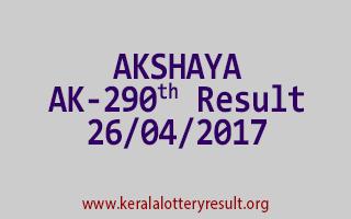 AKSHAYA Lottery AK 290 Results 26-4-2017