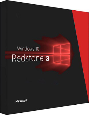 Windows 10 Redstone 3 v.1709 Build 16184.1001 poster box cover