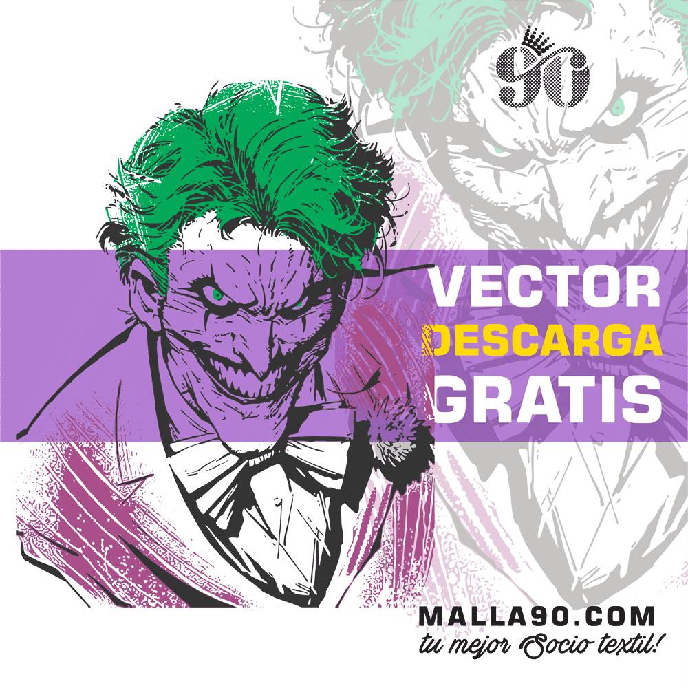 descarga vector del joker portrait of evil