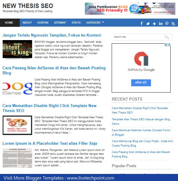 SEO friendly Blogger Template , Free Download SEO Blogger | Template ...