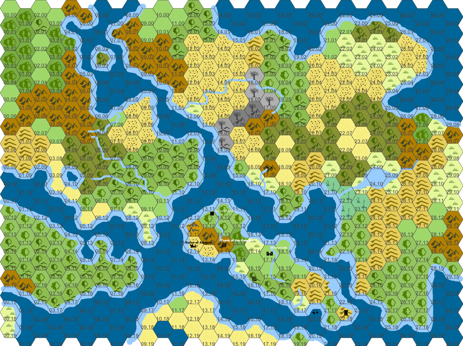 Hexographer World Map.Tenkar S Tavern Played With Hexographer This Evening And Here S The