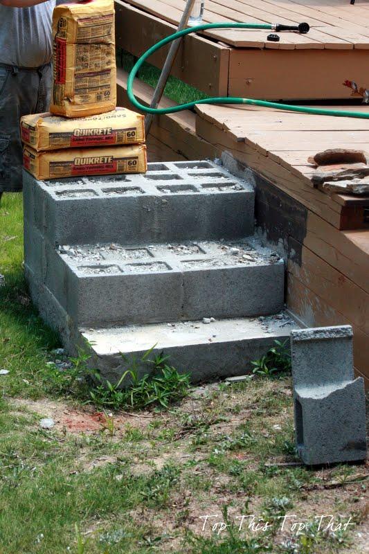 DIY Stone Steps - Duke Manor Farm