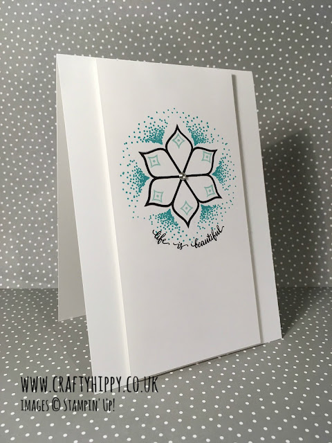 How to make a gorgeous card using the Stampin' Up! stamp set Eastern Beauty and Bermuda Bay ink