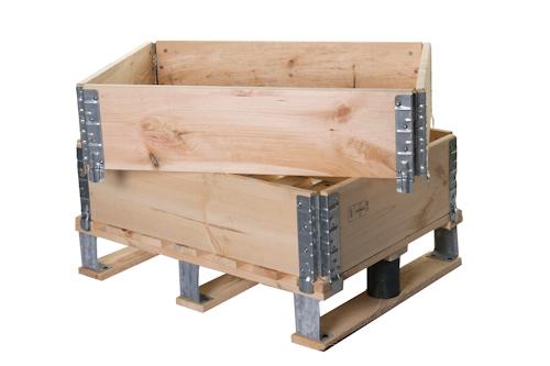 Inka palets barcelona 5 1 cajas m dulos de madera cercos aros plegables con tratamiento ispm15 - Hacer una caja de madera ...