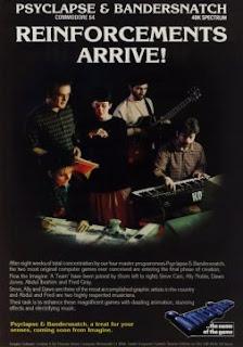 Cartel publicitario Imagine Software en el que aparecen unos músicos