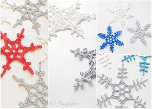 170 Copos de Nieve Snowflakes a crochet