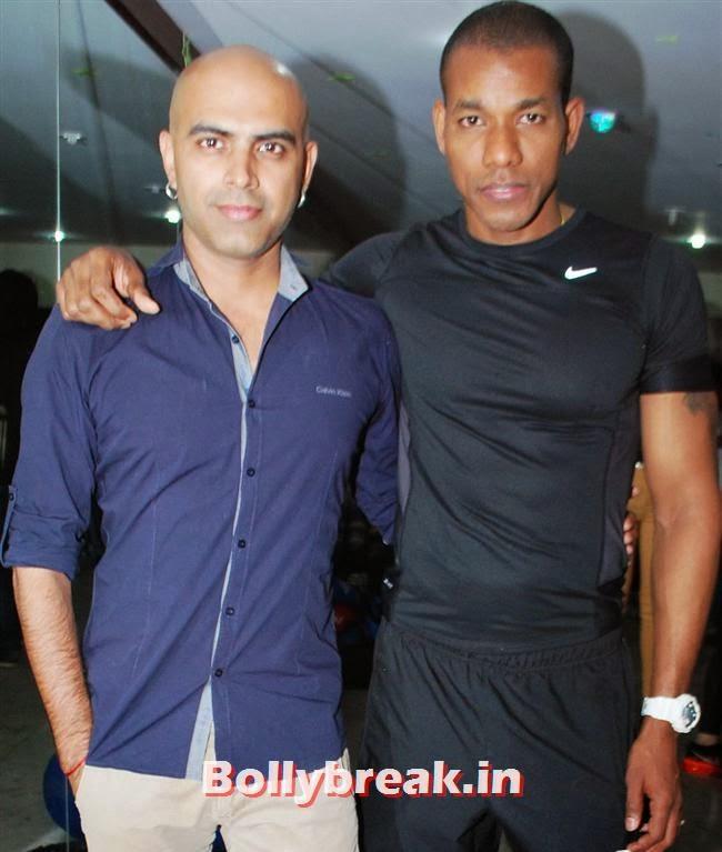 Rajiv and MFT Harrison James, Reyhna Malhotra at Sucheta Fitness Studio Launch Party
