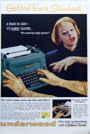 Underwood Golden-Touch Typewriter Print Advertisement