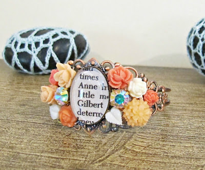 anne of green gables bangle cuff orange anne shirley gilbert blythe bracelet two cheeky monkeys