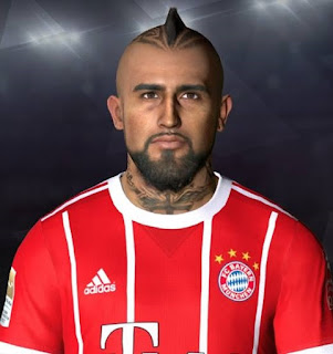 PES 2017 Face & Tattoo Arturo Vidal by Facemaker Ahmed El Shenawy