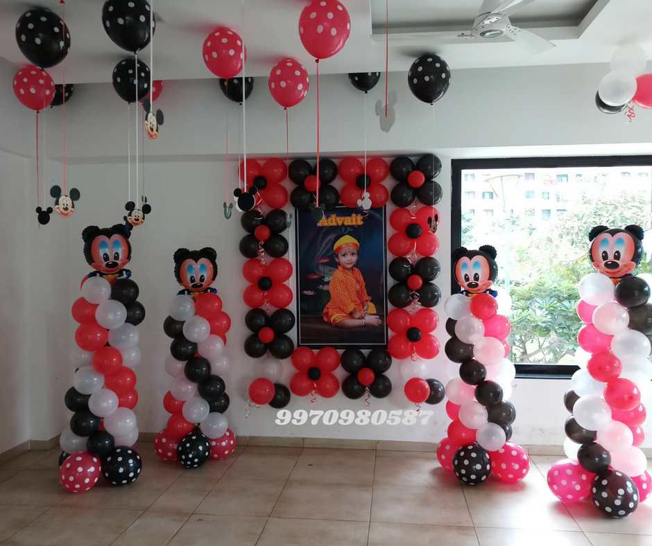 Micky Mouse Balloon Decoration
