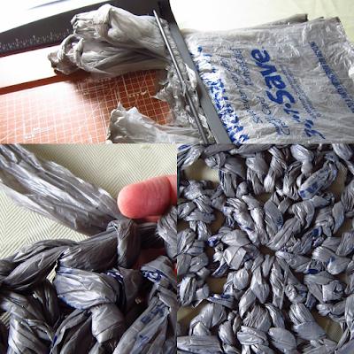 plarn, plastic bag yarn, recycling, crochet