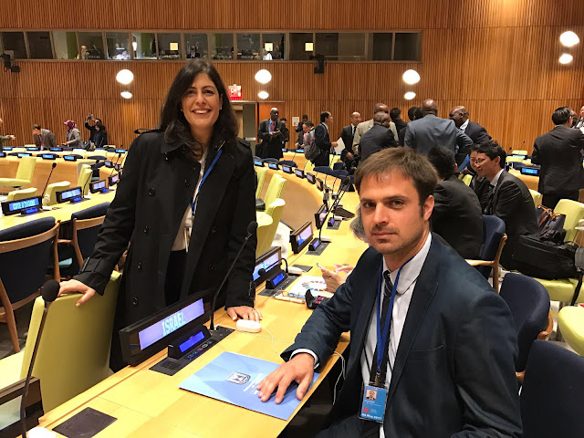 Johannes Guagnin at the United Nations