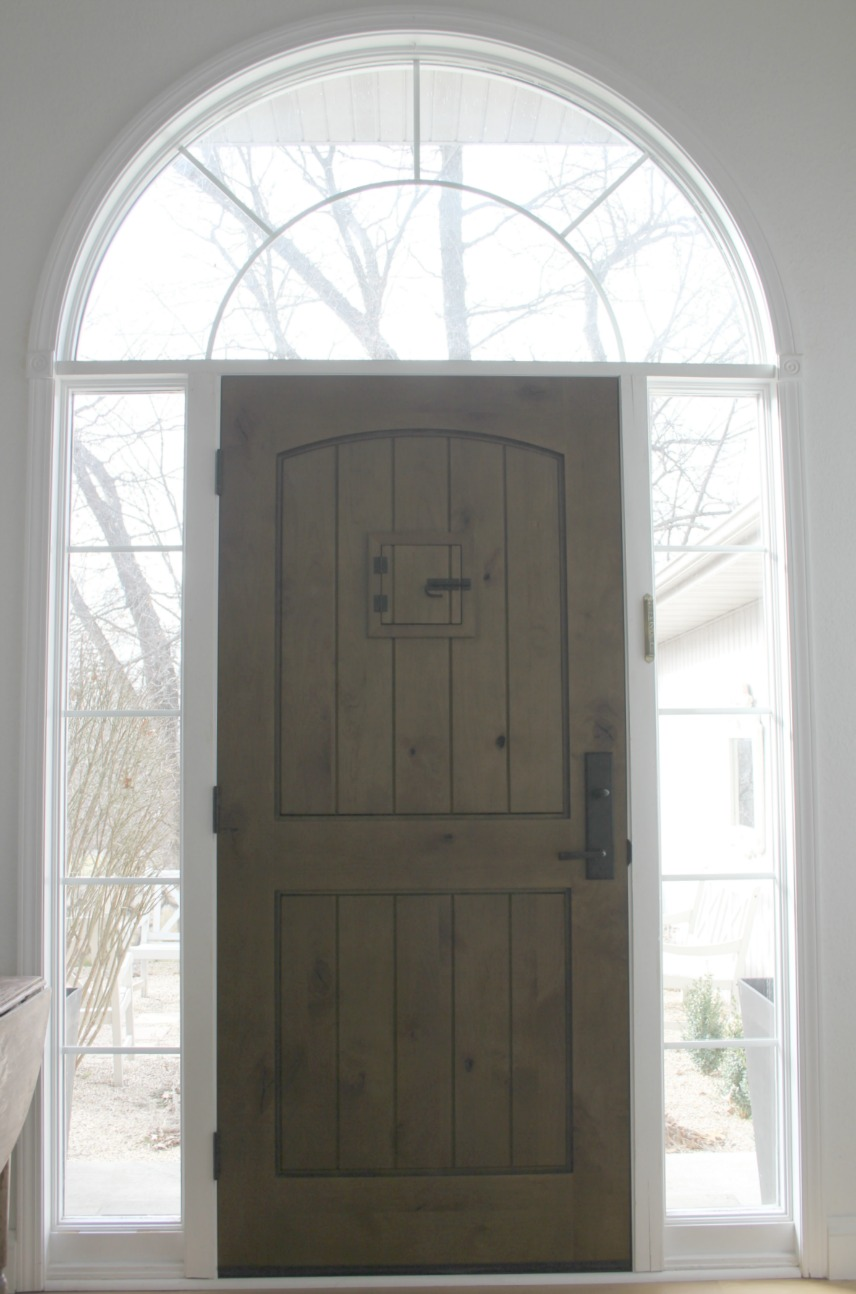 My rustic alder front door - Hello Lovely Studio. Rustic Old World Style Wood Doors [Design Inspiration] with photos of doors old and new to inspire your design ideas.