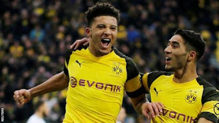 Sancho scored Dortmund's first as they surrendered a 3-0 lead to draw with Hoffenheim on Saturday
