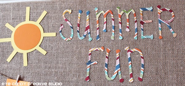 summer fun, scrapbook paper, summertime, paper crafting