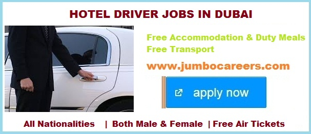 | Dubai Hotel Driver Jobs for Diplomas