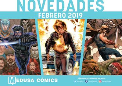 """Novedades febrero 2019 de """"Medusa Cómics""""."""