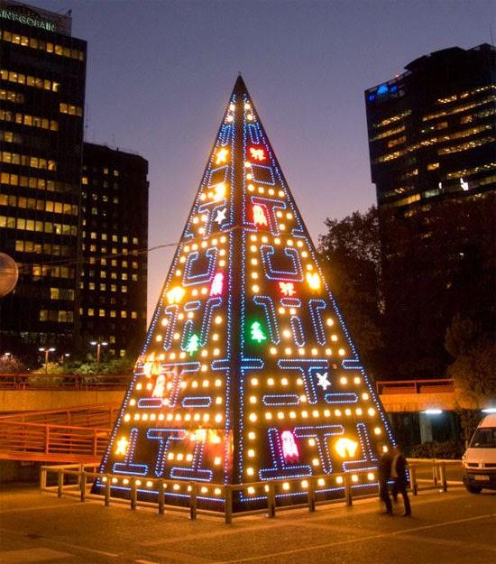 árvore de natal pac man