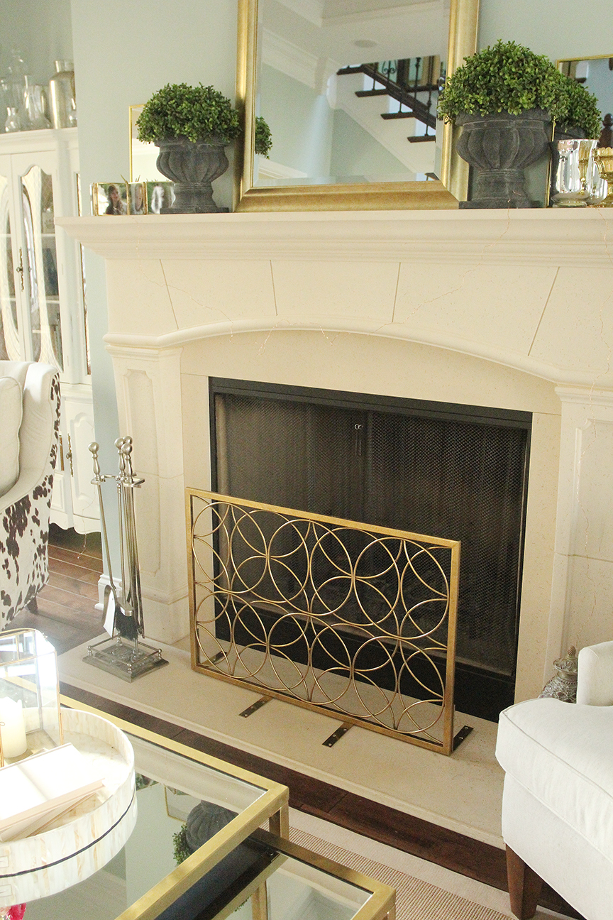 made with unexpected screen by materials perkins mantle fireplace diy jennifer halloween from