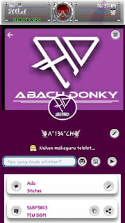 BBM Mod Purple Theme AD Koplax V3.2.0.6 Apk