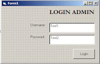 Membuat Form Login Dengan VB 6.0, MySQL dan ADODB Connection, cara membuat form login keren