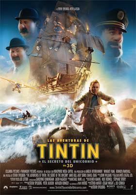 Las aventuras de Tintín: El secreto del Unicornio - Cartel
