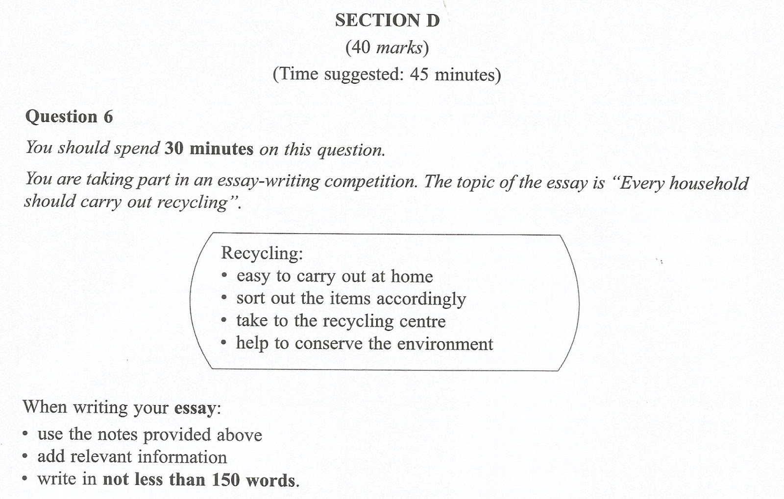 recycling essay Importance of recycling: recycling is important in today's world if we want to  leave this planet for our future generations it is good for the environment, since  we.