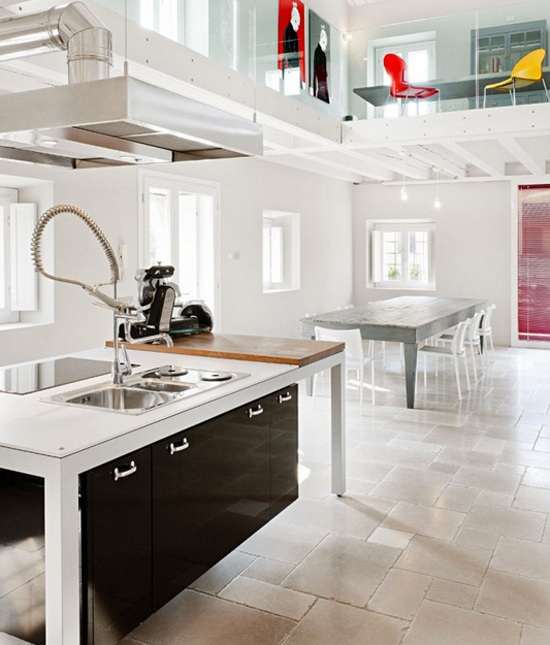 Conciliaci n de estilos decorativos cocinas con estilo for Estructura de una cocina industrial