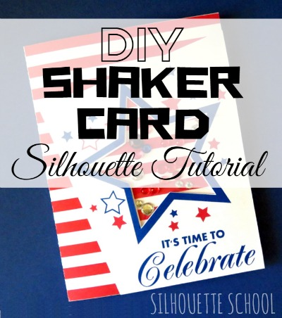 Silhouette Cameo, Silhouette tutorial, DIY, do it yourself, shaker card