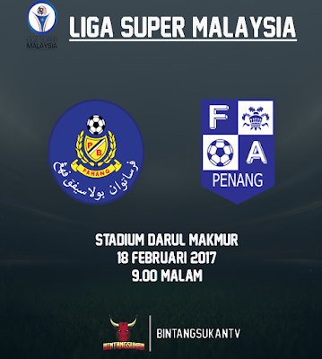 Pahang Vs Penang 18 Februari 2017