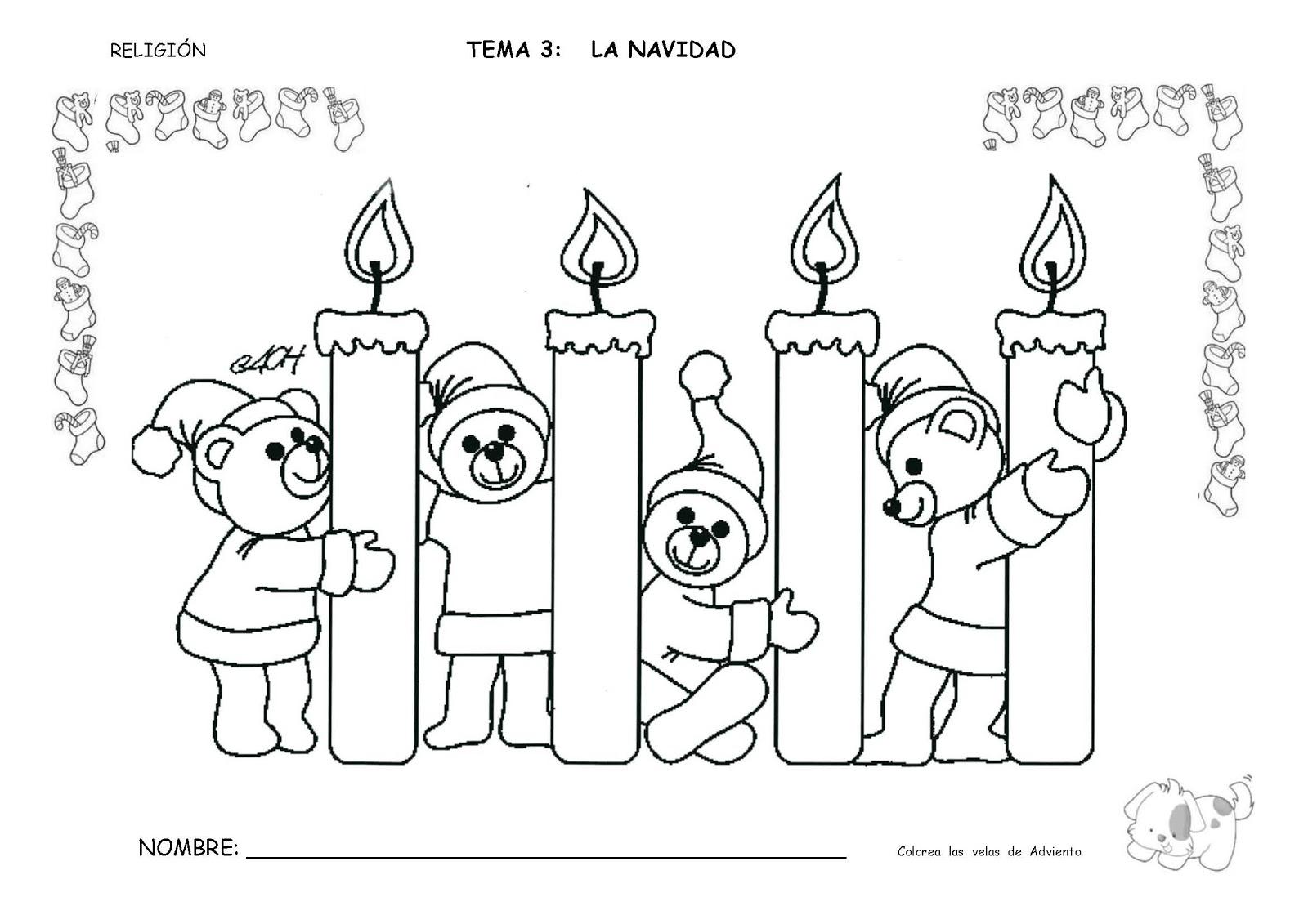 Fichas Navidad Infantil 3 Anos