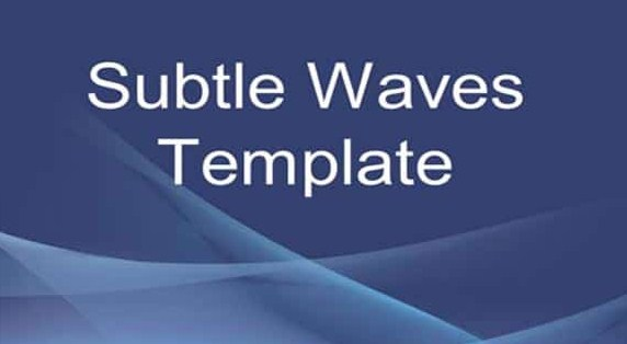 Latest Subtle Waves – Free PowerPoint Business Template