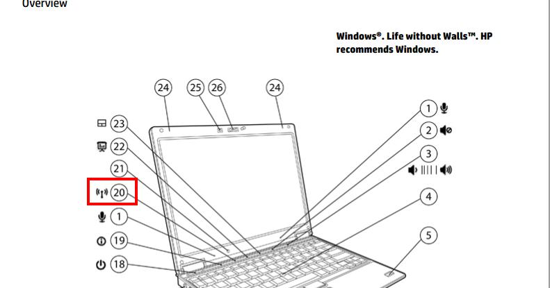 Problema con el botón de encendido/apagado Wireless en HP