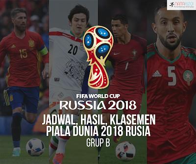 Jadwal, Hasil, dan Klasemen Grup B : Piala Dunia 2018