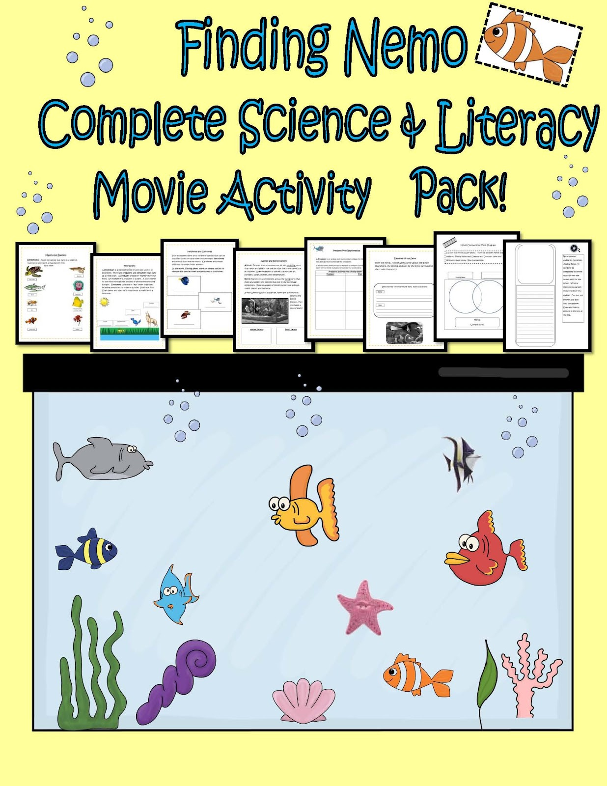 Engaging Lessons And Activities Finding Nemo Complete