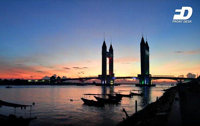 jambatan angkat Terengganu fajar senja