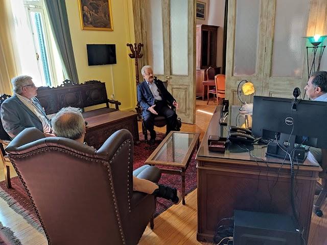 Συνάντηση Προέδρου ΕΑΑΣ με Δήμαρχο Μυτιλήνης-Τι συζητήθηκε (ΦΩΤΟ)