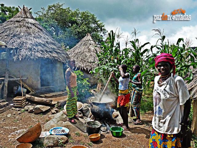 Aldea Bedik en la región del País Bassari (Senegal)