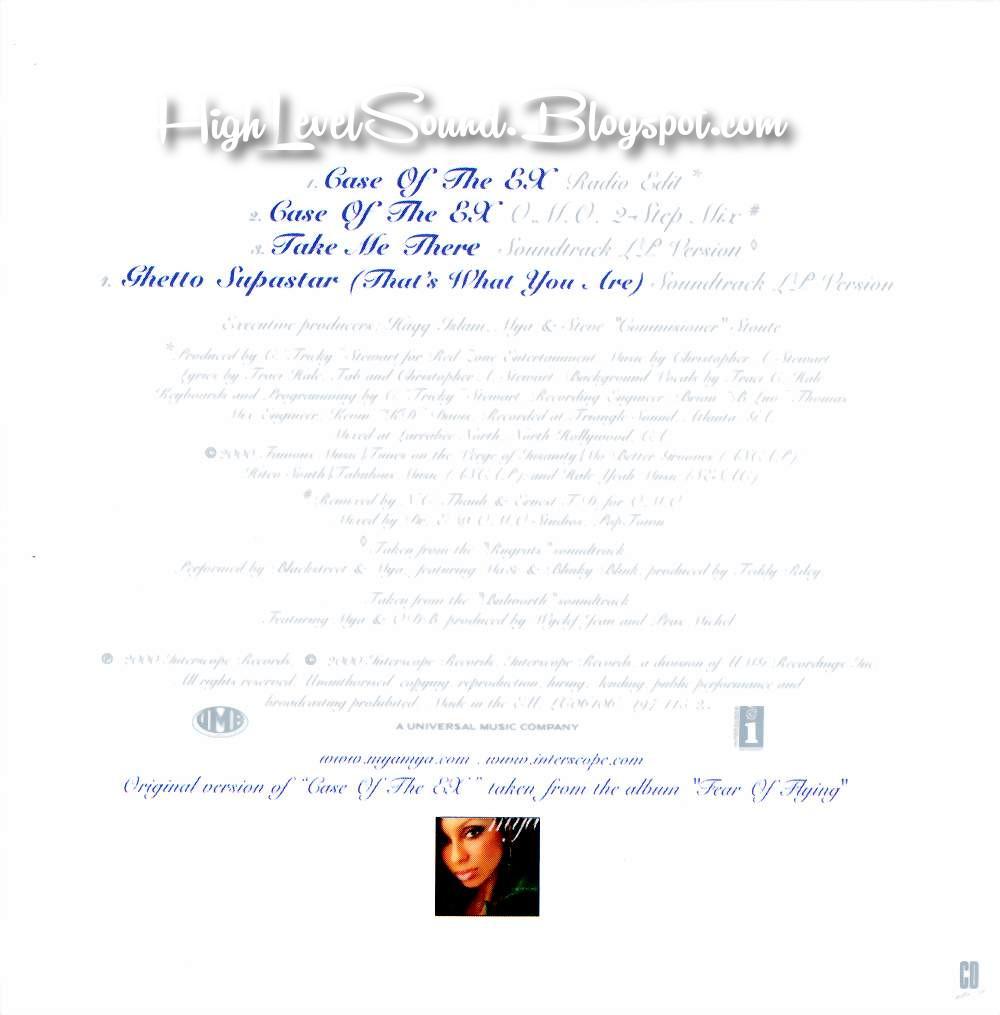highest level of music: Mya - Case Of The Ex-(EU_CDM)-2000-hlm