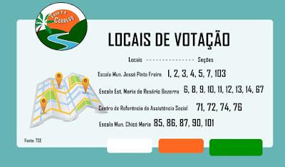 Eleições 2018 - Locais de votação