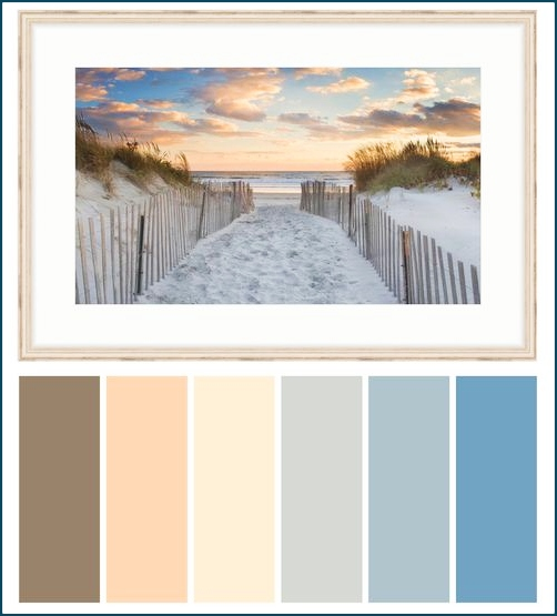 Sunset Sea Ocean Color Scheme Palette