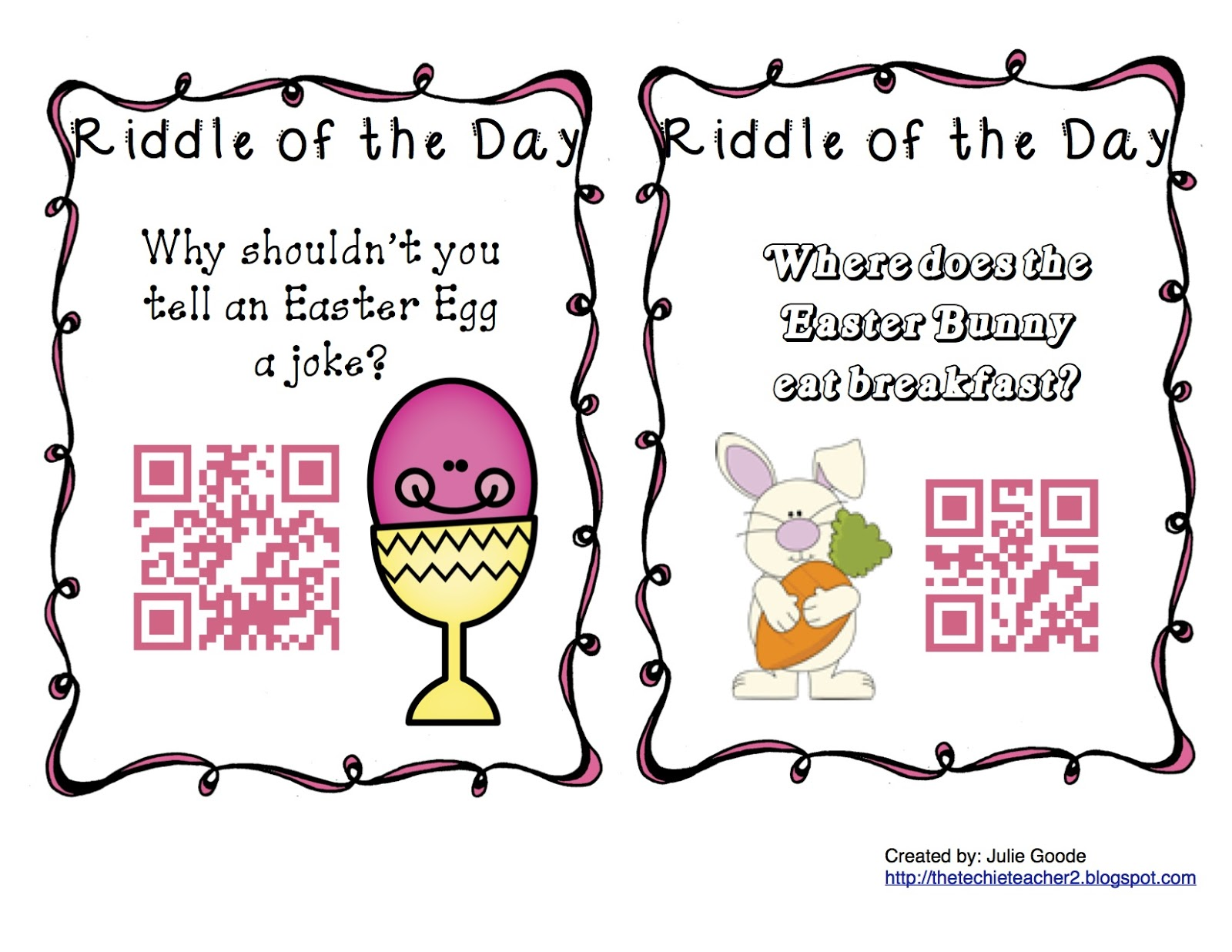 Qr Code Spring Riddles Of The Day Freebie
