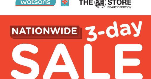 manila shopper watsons nationwide 3 day sale may 2017