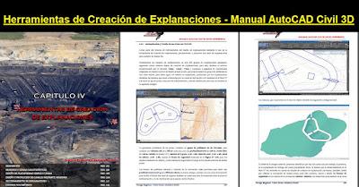 Herramientas de Creación de Explanaciones Manual AutoCAD Civil 3D
