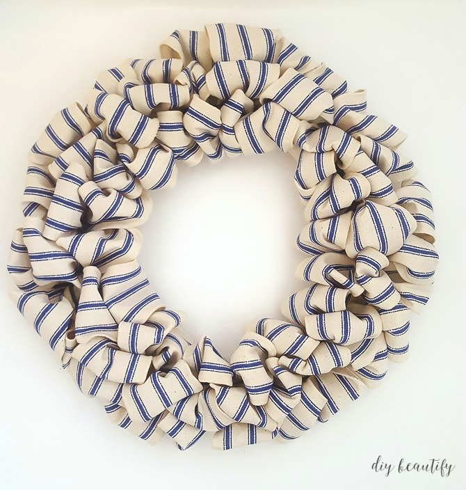 easy farmhouse wreath