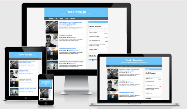 Tendo responsive fast SEO blogger template