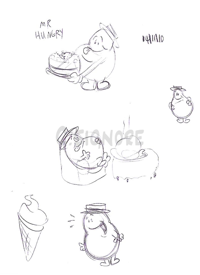 Signore Studios: Mr Men Parody Concept Sketches