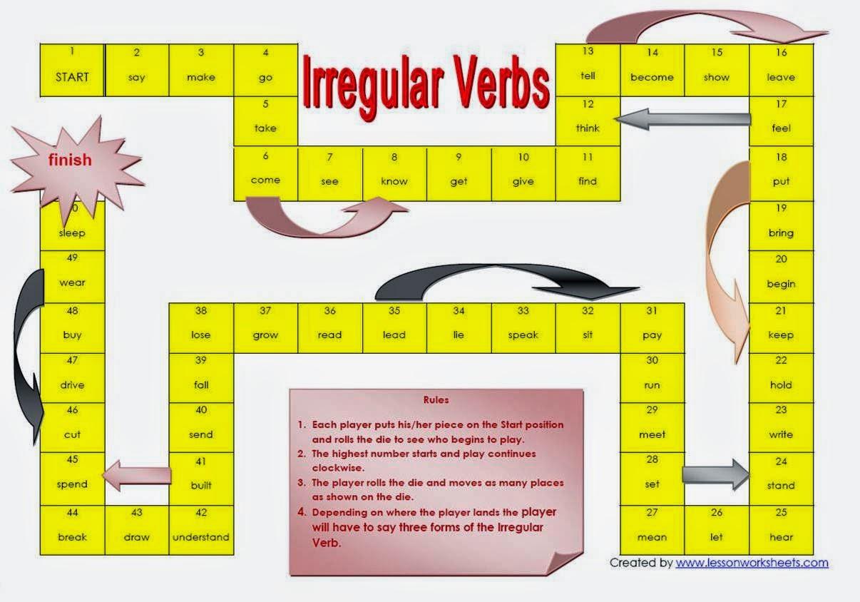 Adixmur Juegos Para Aprender Verbos Irregulares En Ingles